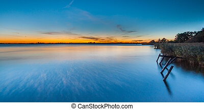 Sunset over Lake Schildmeer, Netherlands - Beautiful Sunset...