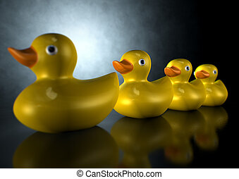 Get Your Ducks In A Row - A row of organised and ready...