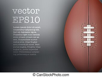 Dark Background of rugby ball. Vector Illustration. - Dark...