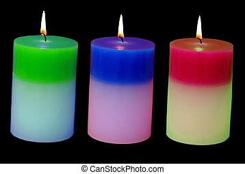 glowing candles - decoration