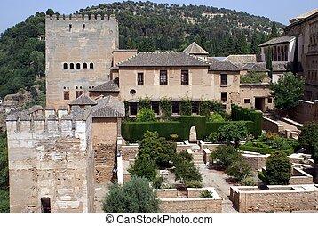 ruins in Granada, Spain