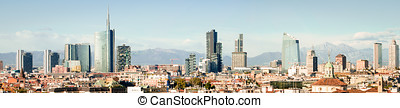Milano Italy, skyline panoramic collage High res