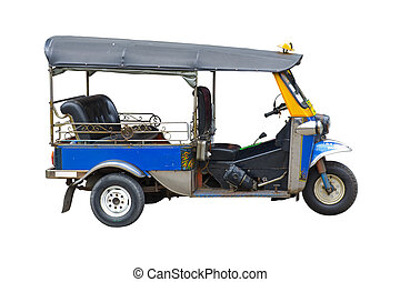 tuktuk taxi in thailand - tuk tuk taxi in thailand, isolated...