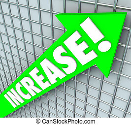 Increase Word Green Arrow Rising Up Improvement More Results