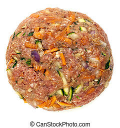 Healthy Hamburger Patty Isolated - Healthy hamburger patty,...