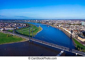 Duesseldorf mediahafen (harbour) in Rheinland-Westphalia,...