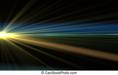 Lens Flares - Abstract Motion Background With Lens Flares...