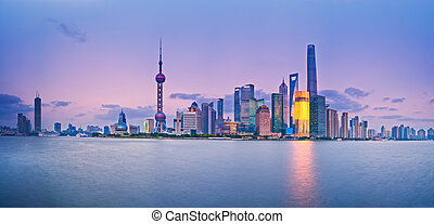 Shanghai Pudong Skyline - China Shanghai Pudong district...