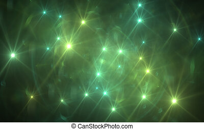 optical flares - star with lens flare and bokeh effect made...
