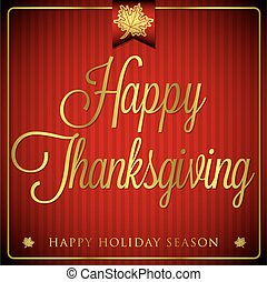 Typographic elegant thanksgiving card in vector format