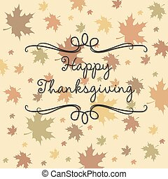 Happy Thanksgiving card in vector format.