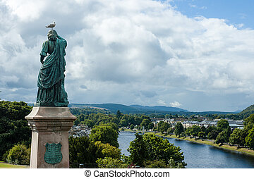 Flora MacDonald statue - Inverness, Scotland