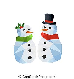 Two funny snowman