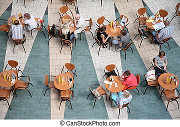 people in cafe