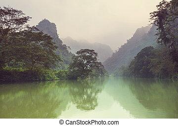 River in Vietnam - Serenity river in Vietnam