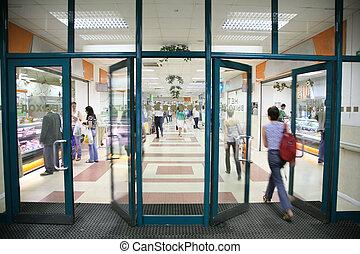entrada, Tienda