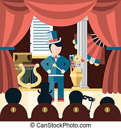 Theatre play concept - Theatre acting and theatrical play...