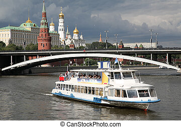 river motor ship on Moscow-river