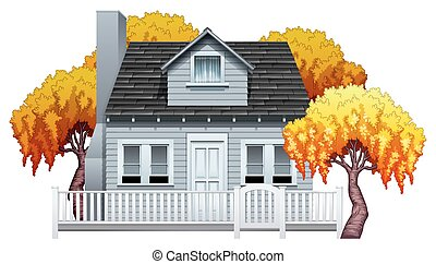 A house with fence