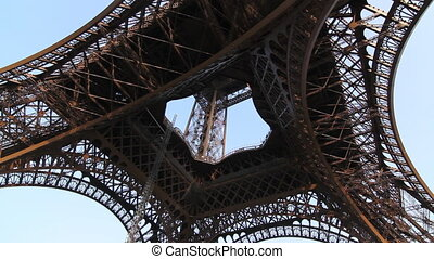 Eiffel Tower. Different angles - Eiffel Tower in Paris,...