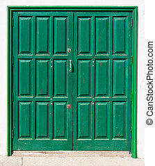 Green, Canarian double door - Green, Canarian, slightly...