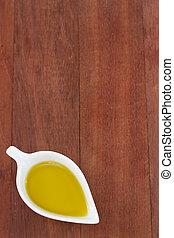 olive oil in bowl
