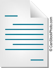 Letter document icon - Letter correspondence document file...