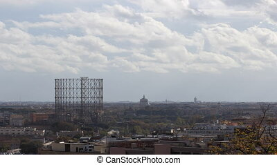 Garbatella Gasholder in Rome - time lapse of the old...
