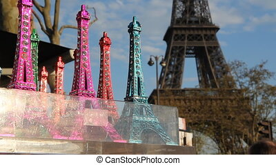 Eiffel tower souvenirs. - Souvenirs of the Eiffel tower with...