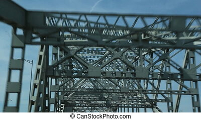 Burlington Skyway Bridge. - Driving on the Burlington Skyway...
