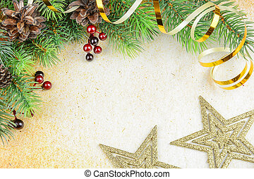 Christmas background - Christmas compositionon with fir...