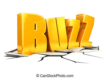 3d buzz concept, isolated white background, 3d image