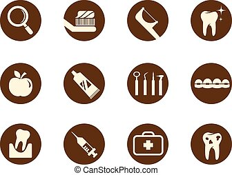 Dental and teeth care icon set