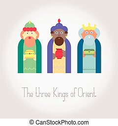 Kings magi vector illustration