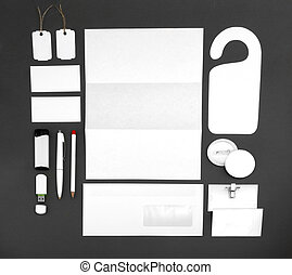 collection of corporate identity on a gray background -...