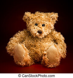 Portrait of a Fluffy Teddy Bear - Portrait of a fluffy toy...