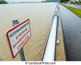flood in 2013, mauthausen, austria - flood 2013 mauthausen,...