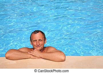 Man at the pool board