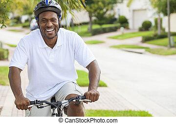 乗馬, アメリカ人, アフリカ, 自転車, 人