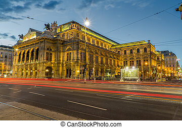 Austria Vienna opera - The opera in vienna, europe. View on...