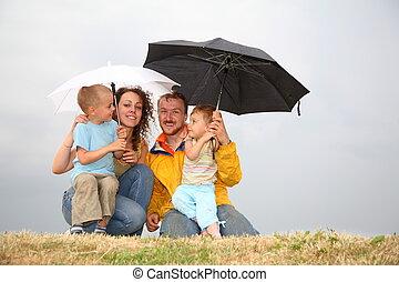 familia, paraguas