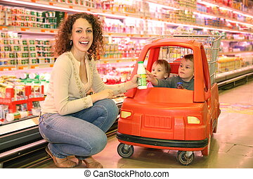 mother child store cart