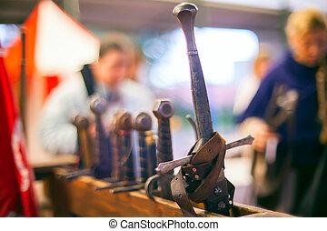 medieval, espadas,