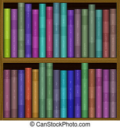 texture of funny color bookshelf, bookcase - seamless...
