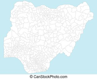 Map of Nigeria - A large and detailed map of Nigeria with...