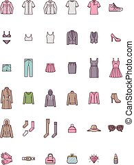 Women clothes set - Set of the women clothes