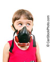 Little Girl in Gas Mask - Little Girl in in Gas Mask...