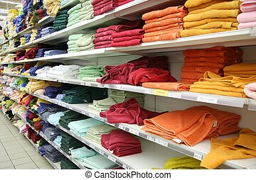 towels in shop