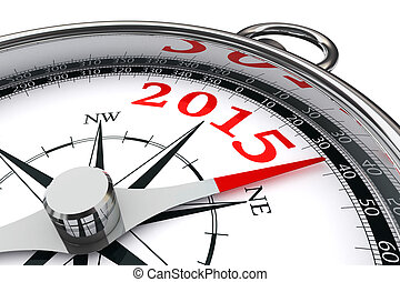 new year 2015 conceptual compass