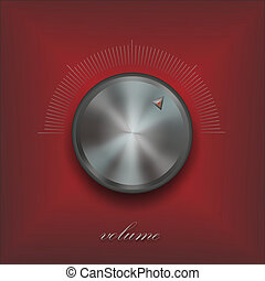 control knob of a speaker with scale